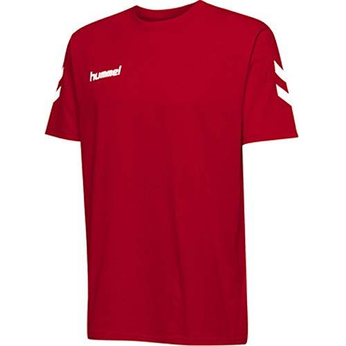 hummel Kinder HMLGO Kids Cotton T-Shirts, True Rot, 152