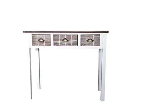 elbmöbel Konsolentisch 3 Schubladen Holz Konsole Sideboard Ablagetisch Landhausstil