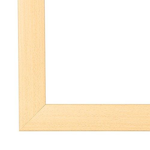 Cadre de Photo Cadre d'image OLIMP 80x110 ou 110x80cm in HÊTRE verre artificielle normale et le panneau arrière, 35 mm baguettes d'encadrement MDF et feuille décorative entièrement recouvrante