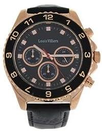 Reloj hombre Louis Villiers acero negro 45 mm lvag5877 – 11