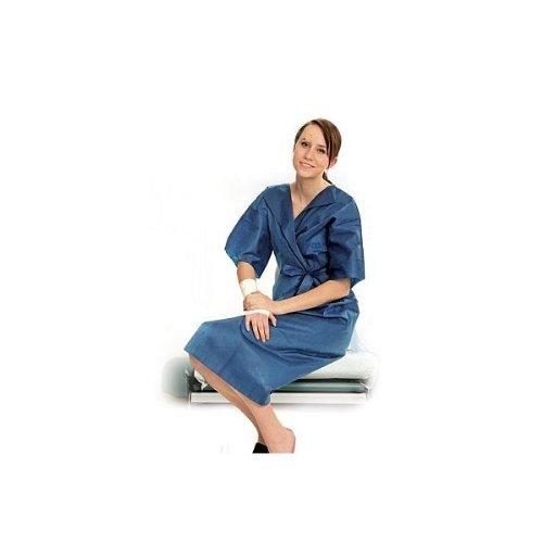 Einweg Patientenkittel blau blickdicht - HYGOSTAR - 50 Stck. (Größe: L)