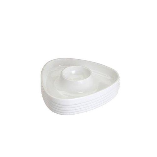 Westmark 20702241 Coquetier Tri Triangulaire 6 pièces en SAN/PS Blanc, 10,6 x 10,6 x 2,1 cm