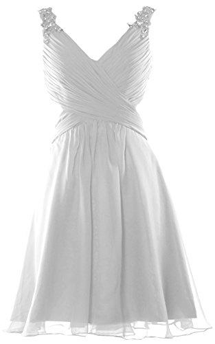 MACloth - Robe - Cocktail - Sans Manche - Femme Blanc - Blanc