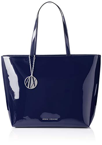 f459f000d0 Armani Exchange - Womans Shopping, Bolsos totes Mujer, Azul (Navy), 29x12x43