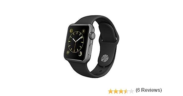 check out 2406a a1264 Apple Watch Sport Montre connectée avec boîtier en aluminium argent de 38  mm et bracelet sport noir  Amazon.fr  High-tech