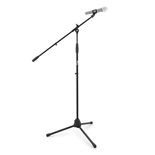 Tiger MCA68-BK - Soporte de mesa para micrófono con jirafa y pinza, color negro