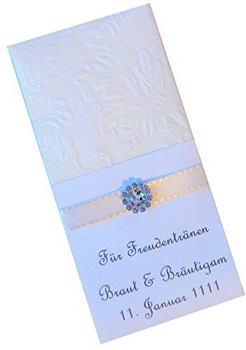 Taschentücher Freudentränen Hochzeit TT0081 champagner - personalisiert