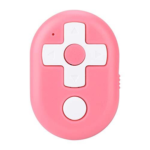 ASHATA Universal Power DVD Control Remoto Teléfono móvil Bluetooth4.2 Selfie Device Smart Controller para iOS/Sistema Android (Rojo)