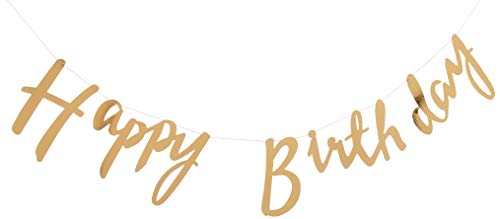 Pick and Mix - Gold Happy Birthday Bunting Hängende Wimpelgirlande