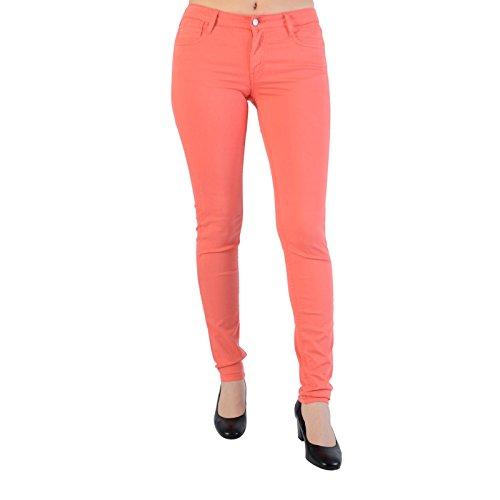 Le Temps des Cerises, Jean Slim Femme Orange (Spiced Coral)