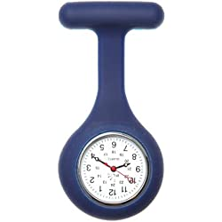 Nurses Silicone Gel Fob Watch in Navy Blue