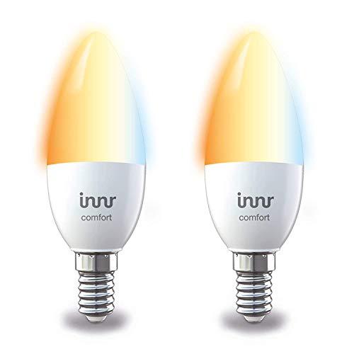 Innr E14 Duo pack des 2 ampoules LED connectée Blanc réglable, 2200K - 5000K (pilotable via smartphone, compatible avec Philips Hue*) RB 248T-2