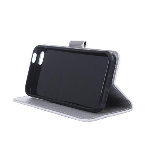 AYASHO® iPhone SE / 5s / 5 Hülle - Hohe Qualität Gemalt PU Kunst Lederhülle Tasche Hülle Kunstleder Flip Case Tasche Etui Schutzhülle für iPhone SE / iPhone 5 / iPhone 5S (A13) A26