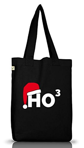 Shirtstreet24, HO3, Weihnachten Winter Jutebeutel Stoff Tasche Earth Positive (ONE SIZE) Black