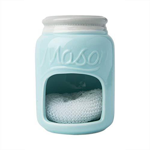 SujetadorHecho De Cerámica para Esponjas del Fregadero - Azul Tiffany