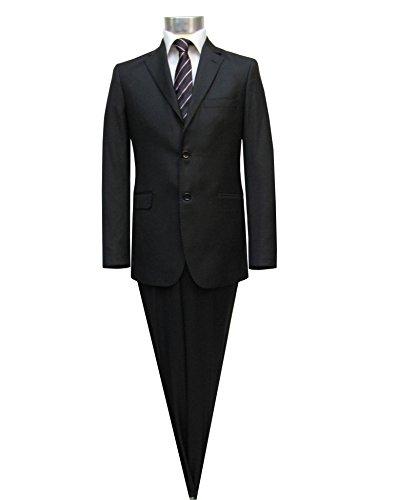Herrenanzug mit AMF-Ziernaht 2-teilig Slim-fit/Tailliert Muga Schwarz