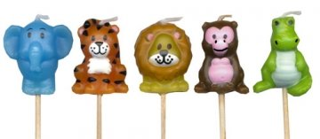 Jungle Party Candles