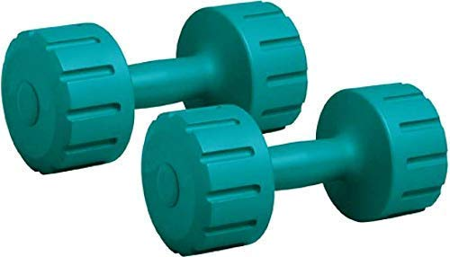Aurion Set of 2 PVC Dumbbells Weights Fitness Home Gym Exercise Barbell for Women & Men's Fix Dumbbell Set (Olive Green, 1 Kg X 2)
