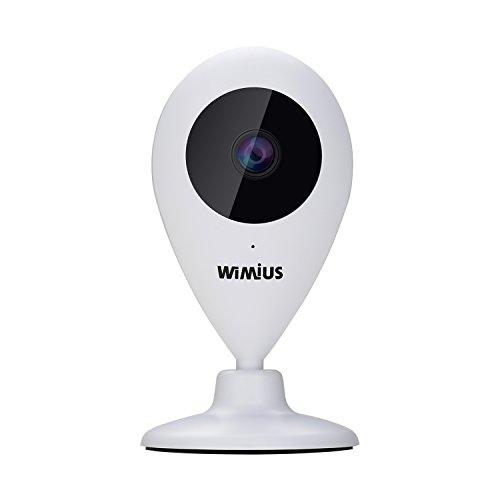 IP-Kamera Überwachungskamera HD WiMiUS Nachtsicht Babyphone Infrarot-Bewegungsmelder 109 ° Weitwinkel -720P 30FPS