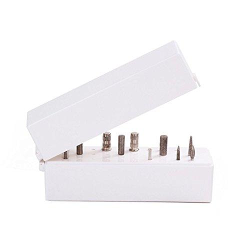 Fornateu Présentoir avec 30 trous Nail Bits manucure boîte affichage porte-embout à ongles avec 30 Bits à ongles trou Affichage étagère