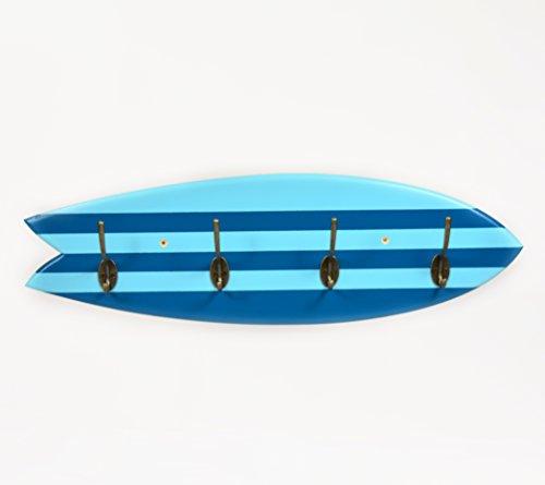 05 Art Deco. Perchero Tabla Surf Retro Azul