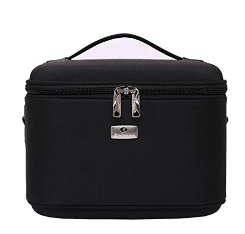 Portable sac cosmétique grande capacité portable cosmétique sac de lavage multi-fonctionnelle sac de rangement cosmétique,Black