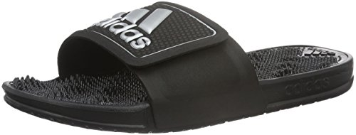 adidas Herren Adissage 2.0 Logo Dusch-& Badeschuhe, Schwarz (Core Black/Matte Silver/Core Black), 47 EU
