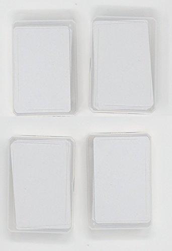 Spielkarten Blanko (Blanko / Blanko, 4 x 50 Spielkarten)