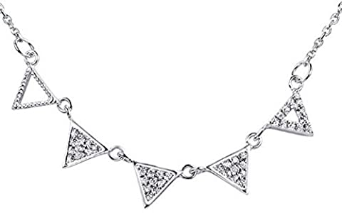 SaySure - 925 Sterling Silver Pendants Necklaces Five Triangle