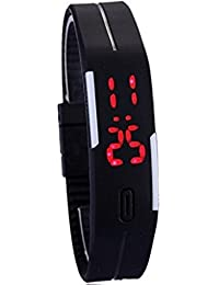 Rabela Digital Black Dial Women|Girls LED Watch MGBLK05