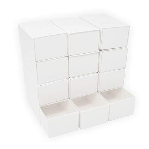 Streichholzschachteln blanco groß 12 Stück 80x50x35 mm weiß aussen und innen