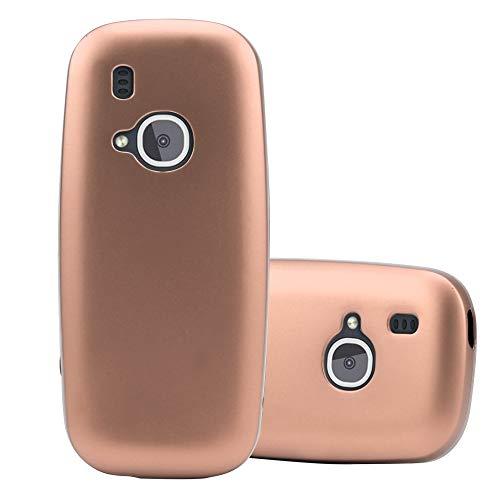 Cadorabo Custodia per Nokia 3310 in Oro Rosa Metallico - Morbida Cover Protettiva Sottile di Silicone TPU con Bordo Protezione - Ultra Slim Case Antiurto Gel Back Bumper Guscio