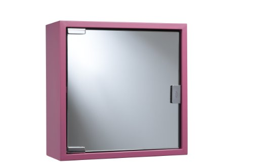Croydex Badezimmerschrank 1-türig Edelstahl pink
