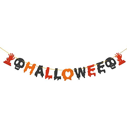 Caiery 50 pcs Halloween Dekoration Ballons Luftballons & 1pcs Halloween Girlande/Halloween Deko Set für geeignet-Grusel-Horror-Party-Deko - 6