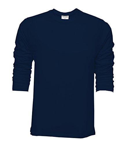 Mens Raftaar® 100% Cotton Lightweight Blank Crew Neck Basic Long Sleeve T  Shirt Tshirt