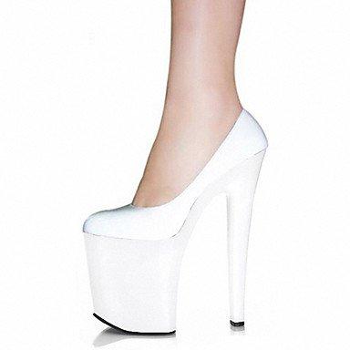 WSX&PLM Da donna-Tacchi-Matrimonio Formale Serata e festa-Plateau Club Shoes-A stiletto-Vernice-Nero Rosso Bianco Trasparente white