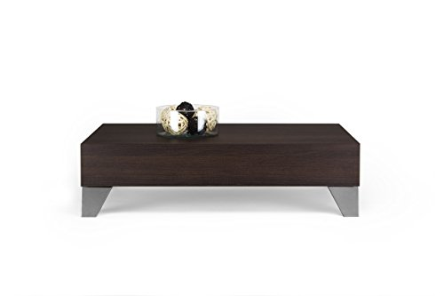 Bargain mobilifiver Evolution 90 Coffee Table, Wood, Dark Oak, 90 x 60 x 24 cm Discount