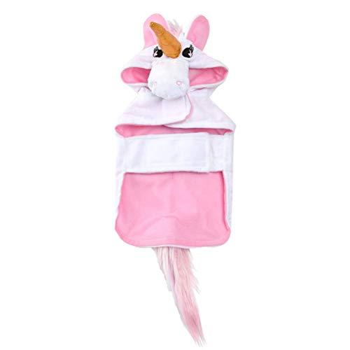 Stirnband Hunde Kostüm Mit - Tomister Einhorn Hund Kostüm-Welpe Einhorn Cape mit Kapuze, Hund Einhorn Stirnband mit Schwanz Haustier Halloween Kostüm für Katzen Hunde