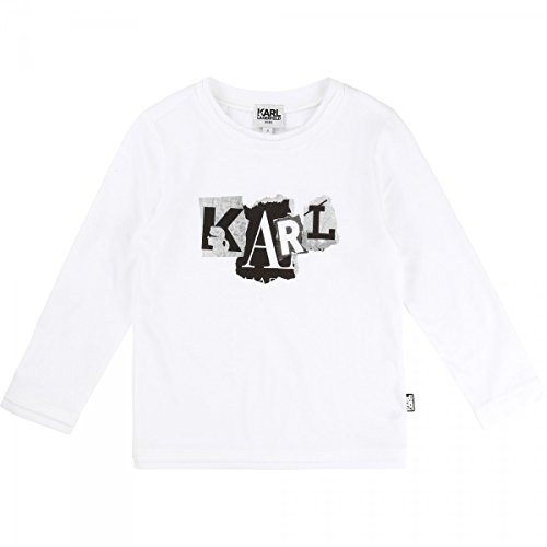 Karl Lagerfeld - T-Shirt Manches Longues Blanc - 8 Ans, Blanc