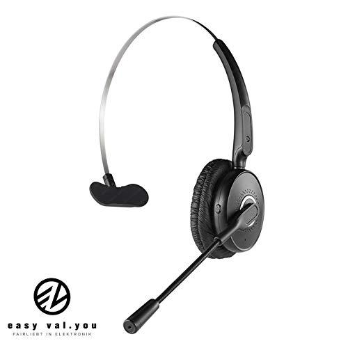 easy valyou Bluetooth Headset mit Mikrofon 4.2 für Handy für PC Computer Office Callcenter Telefon 2 Telefone Geräte Bügel Bloothooth iPhone 6s 7 Plus 8 X Samsung Galaxy S7 S9 A5 Huawei P10 P20 Skype