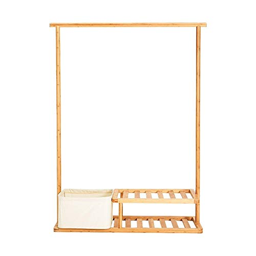 NEWSHELF Bamboo Coat Rack Bank Hall Trees Schuhe Rack Entryway, 3 In 1 Shelf Organizer Shelf, Umwelt Möbel 2-Reifen-Aufbewahrungsbox Regale