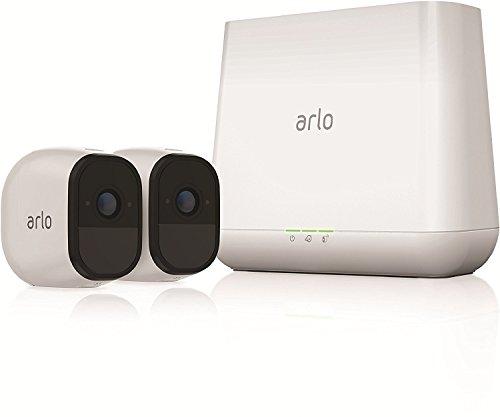 Arlo Pro - Smart Caméra de Surveillance, Paquet de 2, 720p, Jour/Nuit, Grand Angle 100% Sans Fils - VMS4230-100EUS