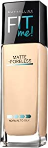 Maybelline Fit Me Matte Plus Poreless Foundation - 110 Porcelain (Pack of 2)