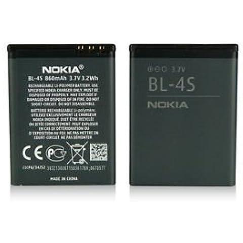 TPC© Bateria Original Nokia BL-4S para Nokia 2680s, 3600s, 3710f, 7020, 7100s, 7610 Supernova, X3 Touch and Type, 860 mAh,