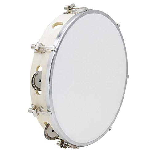 TOOGOO 10 in Tamborine Capoeira Leder Trommel Tamburin Samba Brasil Holz Tamburin Percussion Musikinstrument Zum Verkauf 150 D