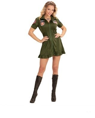 Fight Jet Pilot Girl's Costume Large for Uniform Military Fancy (Dress Fancy Military)