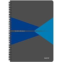 Leitz Cuaderno A4, 90 páginas, Con Rayas, Encuadernación Wiro con tapas PP, Office, Azul, 44960035