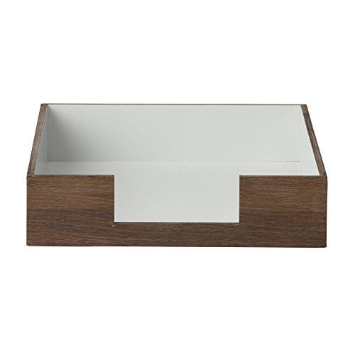 Ferm Living Brief-/Ablagekorb, Eiche grau geräuchert LxBxH 33x24x6cm