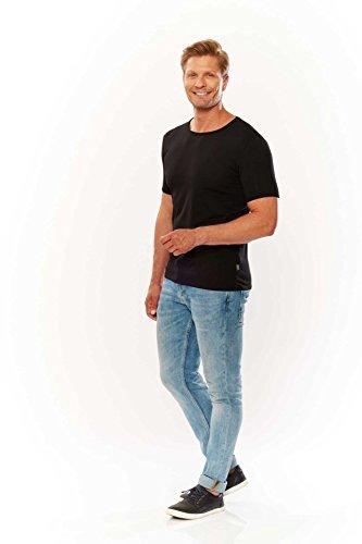 Kitaro Shirt Herrenshirt Shirt T-Shirt 172144 100 black S17-KTS2 Black