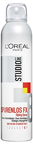 L\'Oréal Paris Studio Line Spurenlos FX Styling Spray, 24h ultra-starker Halt, 6er pack (6 x 250 ml)